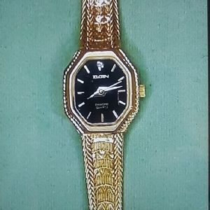 ⭐Vintage Gold Plated Diamond Elgin Watch